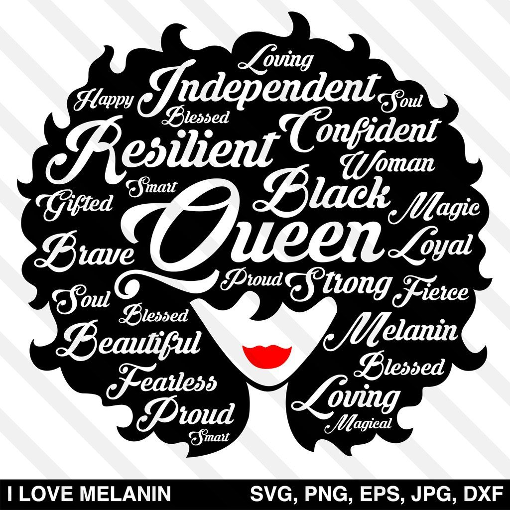 Black Queen Afro Woman SVG Black queen, Afro, How to