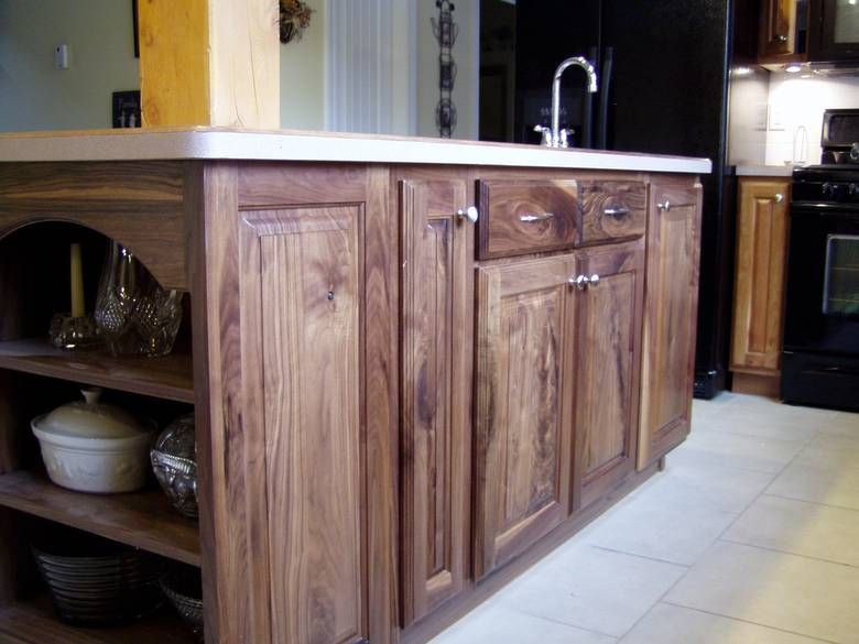 1074   Cherry Cabinets And Black Walnut Cabinets
