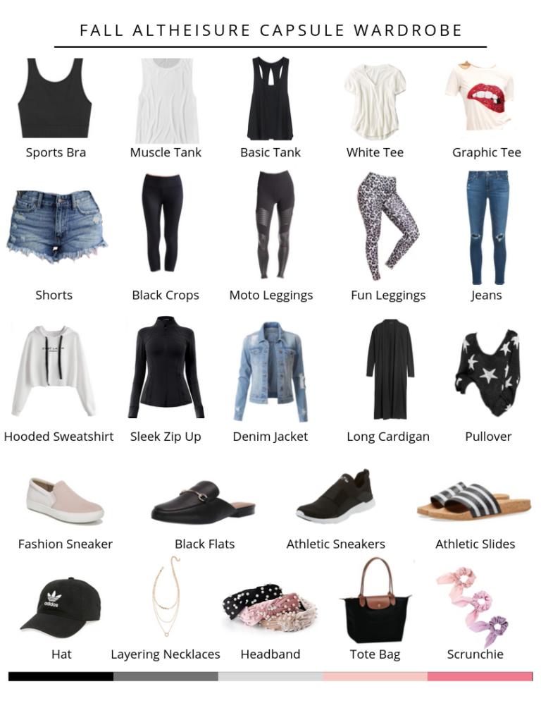 Fall Athleisure Capsule Wardrobe   24 Pieces, 100+ Outfits - Lauren Gleisberg