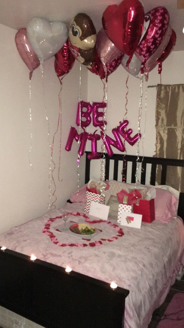 Romantic Valentine S Day Surprise For Him Cute Ideas Romantic Christmas Ideas For Him Christma In 2021 Valentines Surprise Romantic Ideas For Him Valentines Bedroom