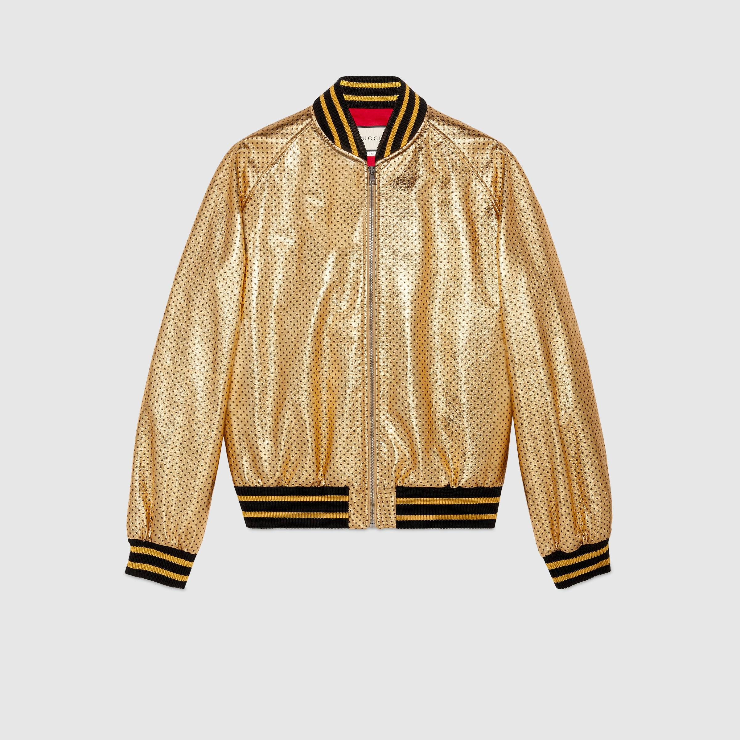 Guccy print bomber Gucci Women's Leather & Casual