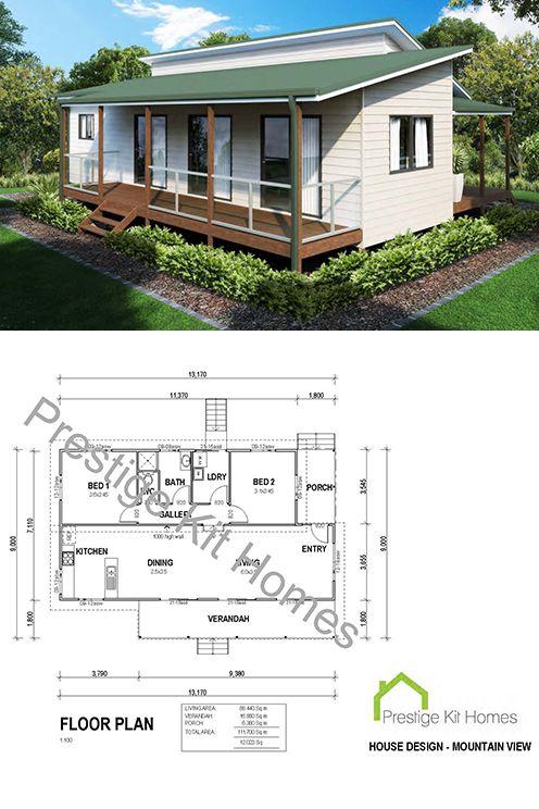 Two Bedroom 2 Bedroom Kit Home Designs By Prestige Kit Homes Www Prestigekithomes Com Au House Design Two Bedroom Kit Homes