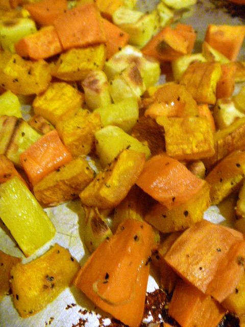 Roasted Pumpkin, Yams, and Sweet Potatoes...yum!
