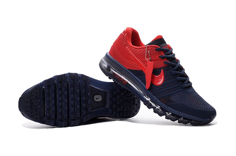 Great Nike Air Max 2017 Dark Blue Red Men Shoes
