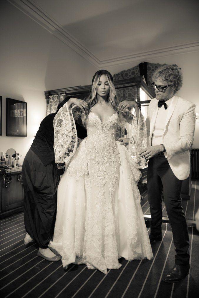 Roberto Cavalli 39 S Designer Peter Dundas Designed The Wedding Dress Of The Always Beautiful Cia Wedding Dresses Italian Wedding Dresses Bespoke Wedding Gown