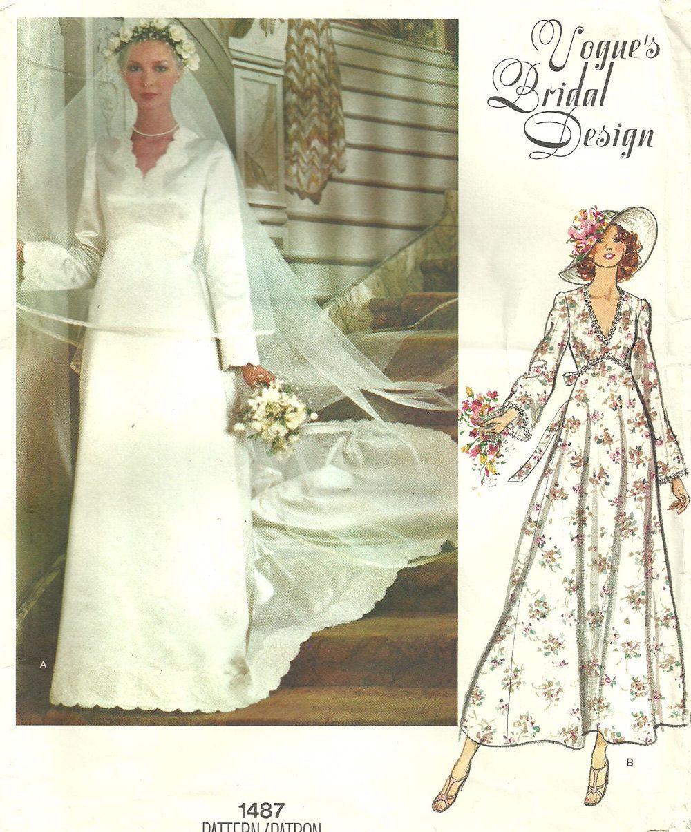 Vogue 1487 / Bridal Design Vintage Sewing by studioGpatterns
