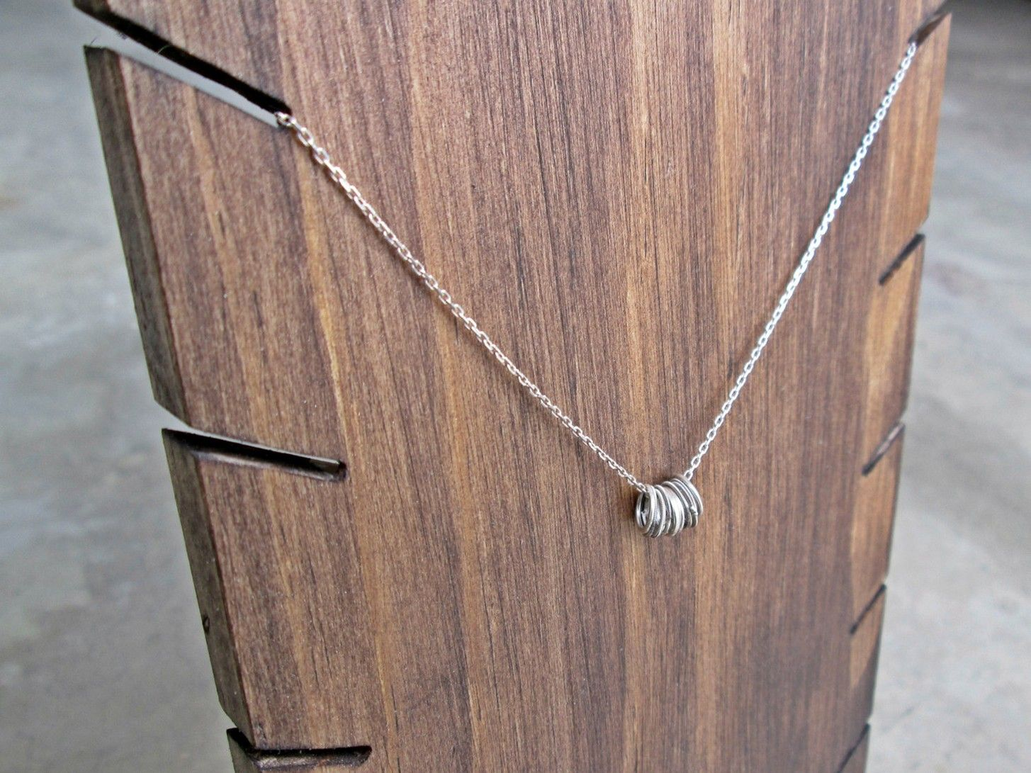 Wooden Necklace Display Stand // Industrial by TheBradfordEdge