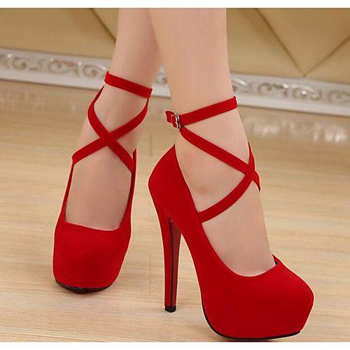 Mujer Zapatos Cuero Nobuck Primavera Otoño Pump Básico Tacones Tacón  Stiletto Para Casual Negro Azul Oscuro Rojo - USD  26.99 ! ¡Producto  DESTACADO! 392a59269a3f