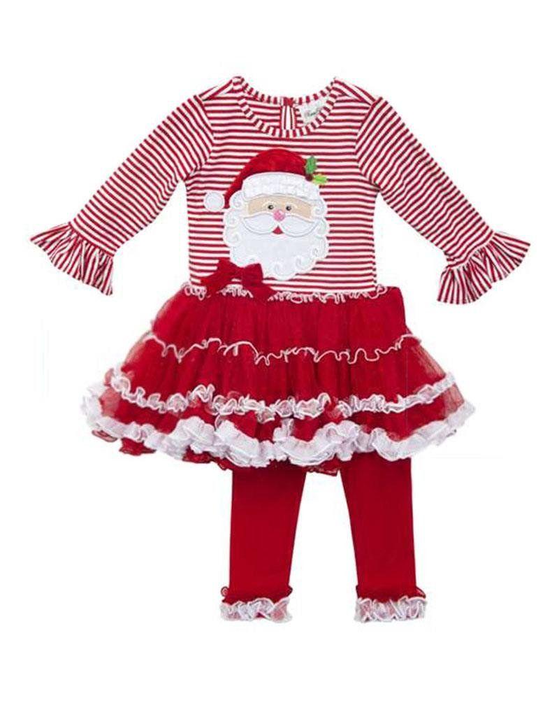 d852653de2d16 Rare Editions Little Girls Santa Pettiskirt and Legging Set, 3T. Rare  Editions. Christmas