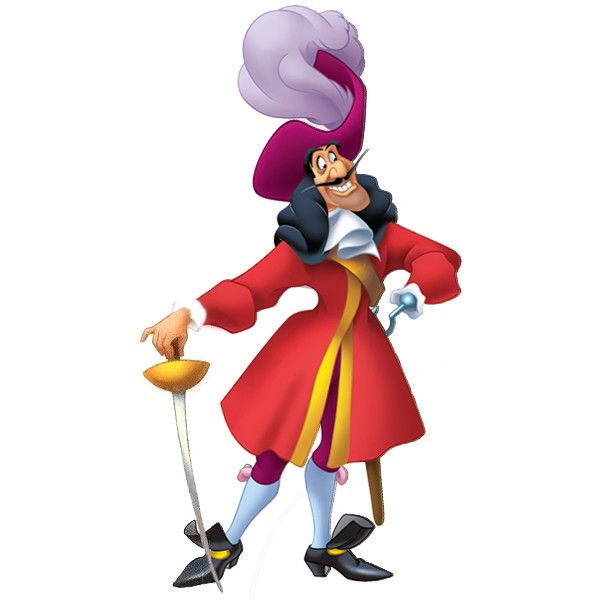 Disney Captain Hook Png Liked On Polyvore Featuring Disney And Characters Imagens Disney Meninos Perdidos Disney Viloes