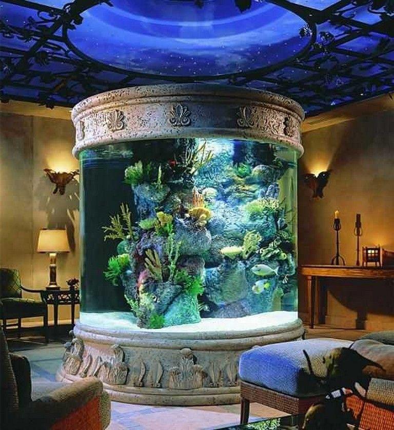 20+ AMAZING AQUARIUM LIVING ROOM IDEAS | Aquarium design ...