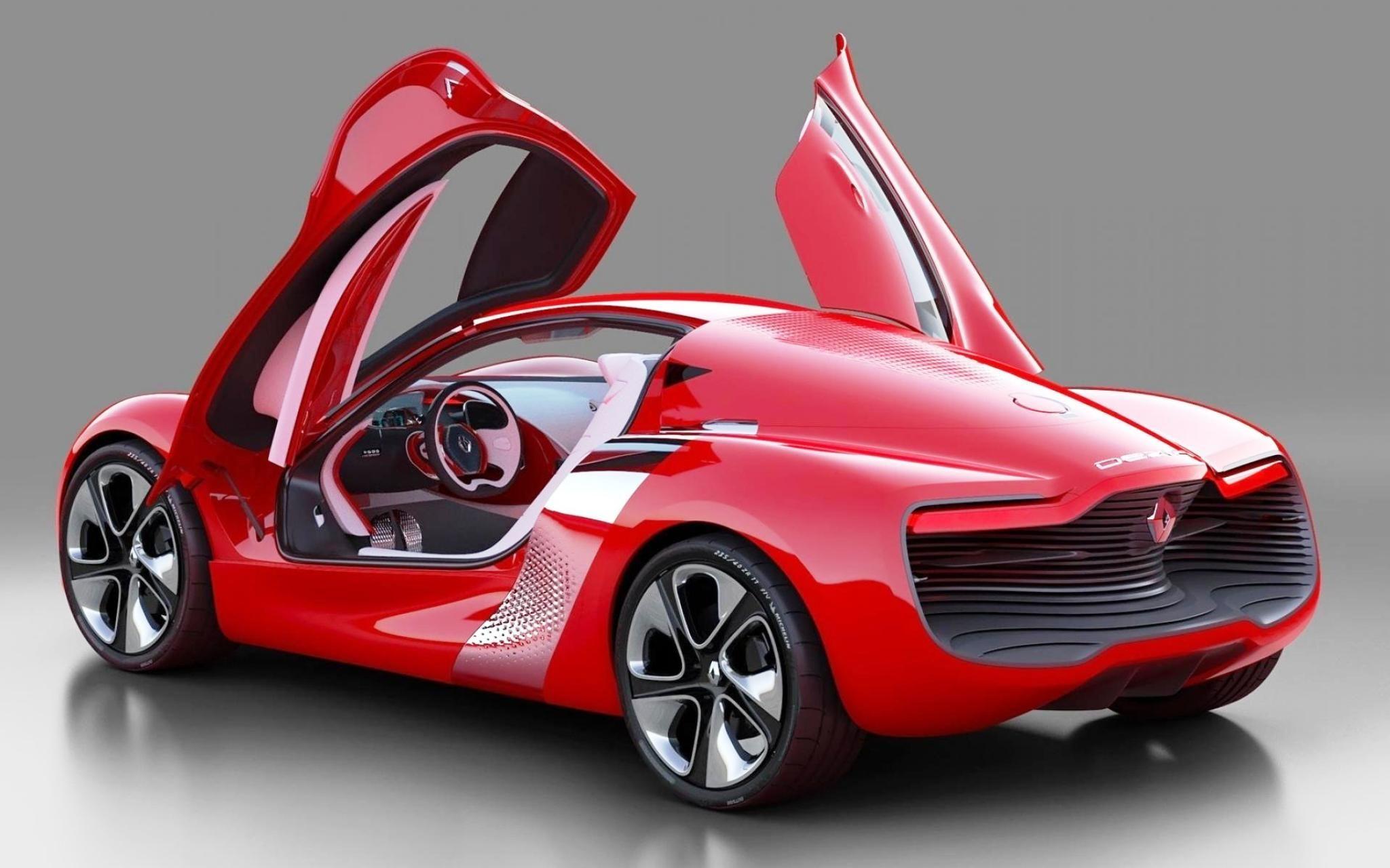Renault Dezir Red Car HD Wallpaper Car Pixo Concept
