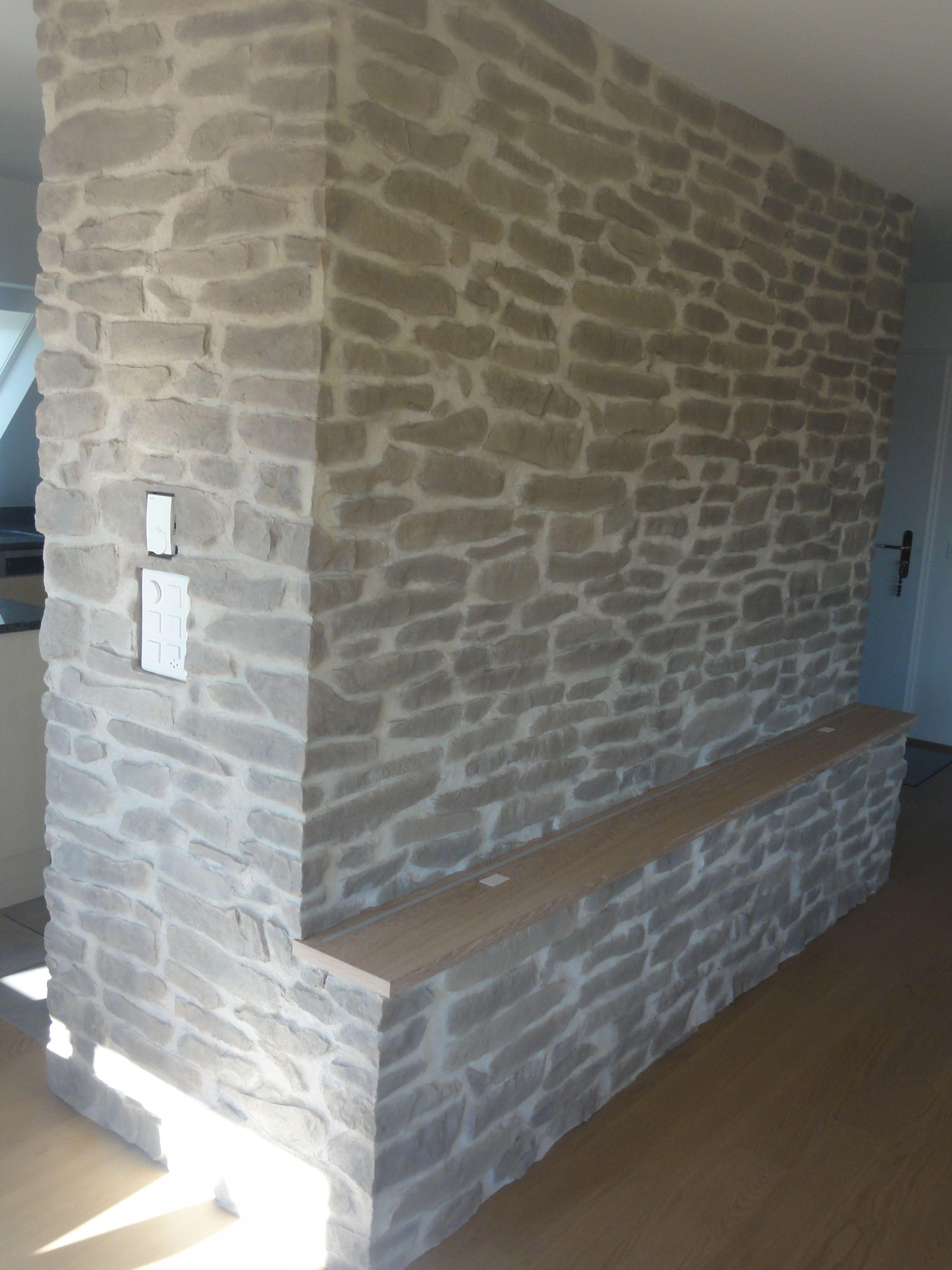 wandverkleidung stein lajas gris | wandgestaltung wohnzimmer