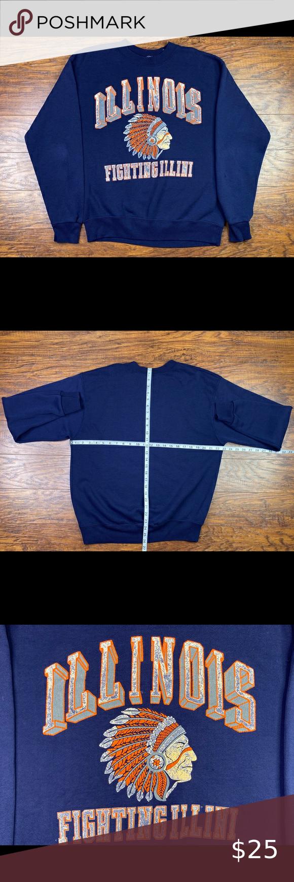 Vintage Illinois Fighting Illini Sweatshirt Good Condition Smoke And Pet Free Home Ships Within 24hrs Monday Sweatshirt Shirt Sweatshirts Sweatshirts Hoodie [ 1740 x 580 Pixel ]