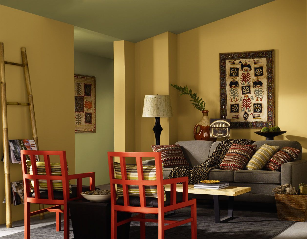 Hgtv home by sherwin williams global spice stonebriar Pics of painted living rooms