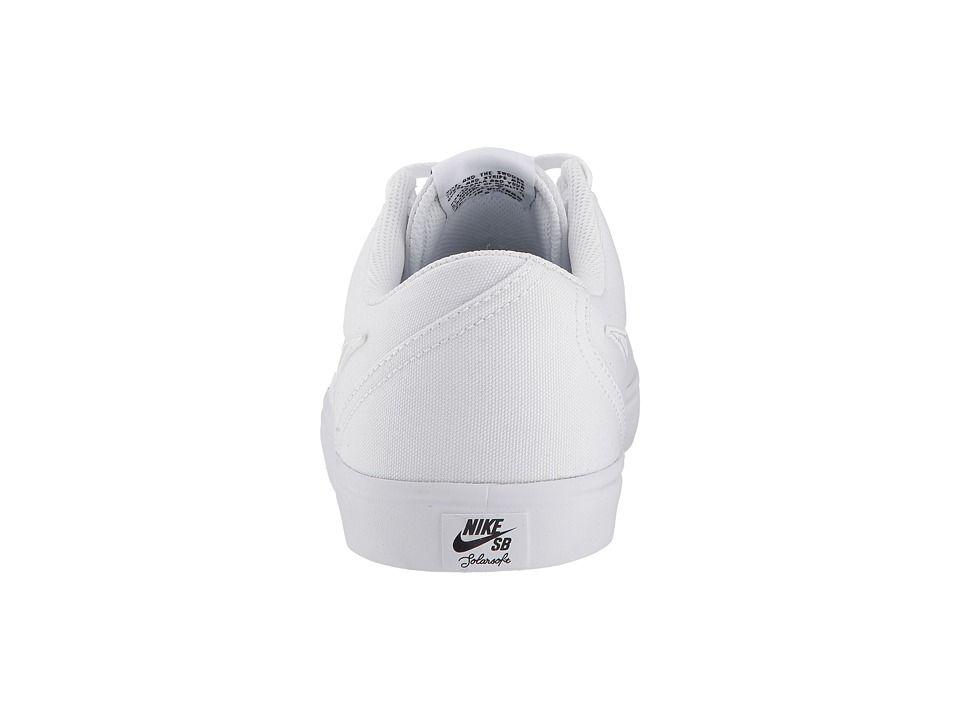b466e95795454 Nike SB Check Solar Canvas Men s Skate Shoes White White Pure Platinum