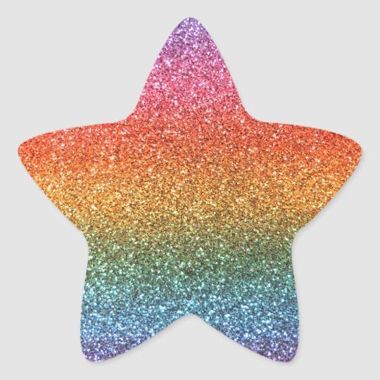 Pastel Pink Glitter Star Sticker Zazzle Com In 2021 Rainbow Glitter Glitter Stars Star Stickers