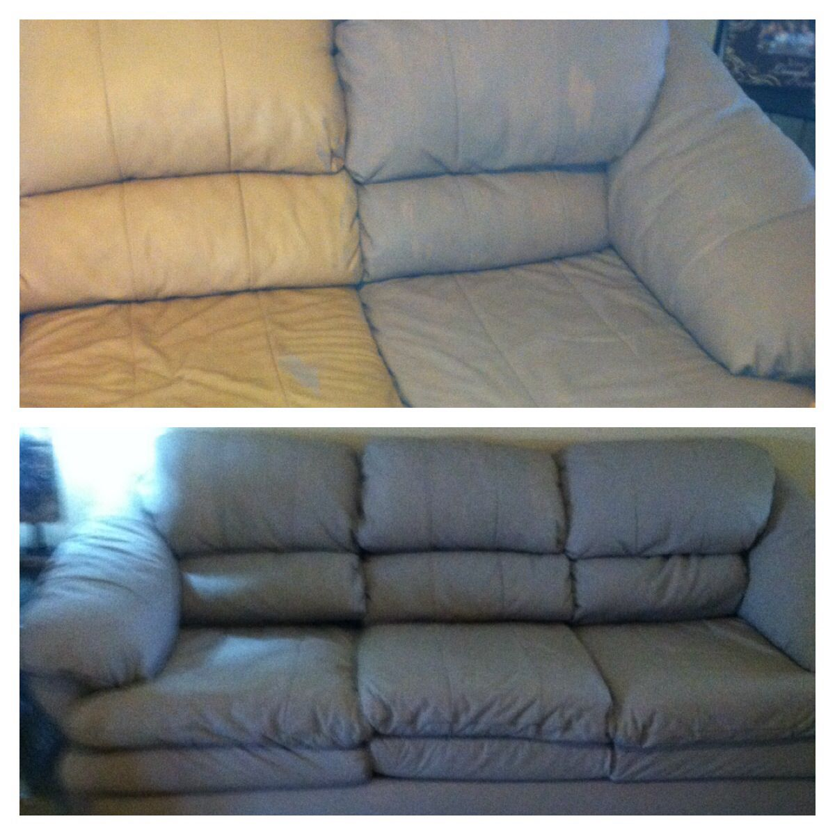 brown leather sofa color restoration murphy bed with underneath painted my couch annie sloan chalk paint you