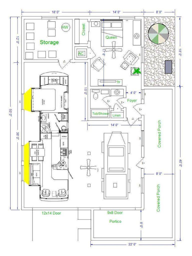 25 Clever Rv Storage Ideas Organization 16 Garage Floor Plans