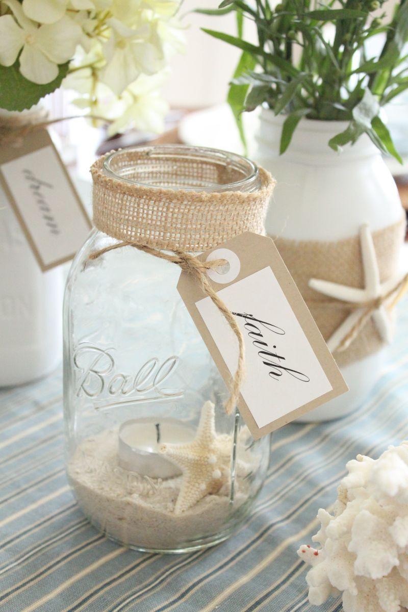 Six Fabulous Coastal Mason Jars Starfish Cottage Beach Mason Jars Mason Jar Diy Mason Jar Crafts Diy