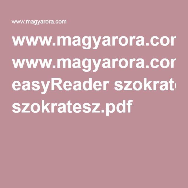 www.magyarora.com easyReader szokratesz.pdf