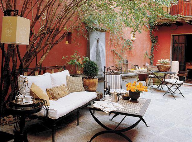 Patio Naranja casa de campo Pinterest Terrazas, Patios y Jardín - decoracion de terrazas con plantas