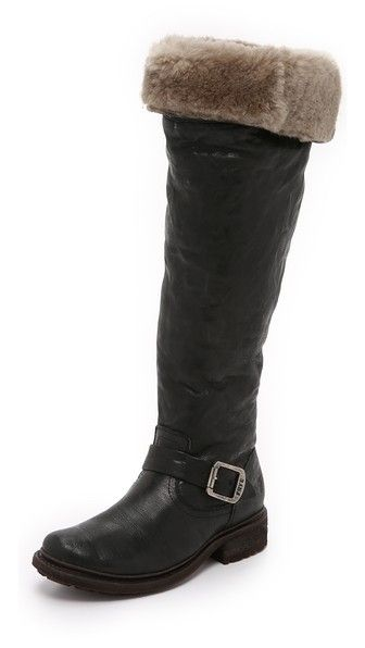 5a82d4f129a Frye Valerie Shearling Over the Knee Boots