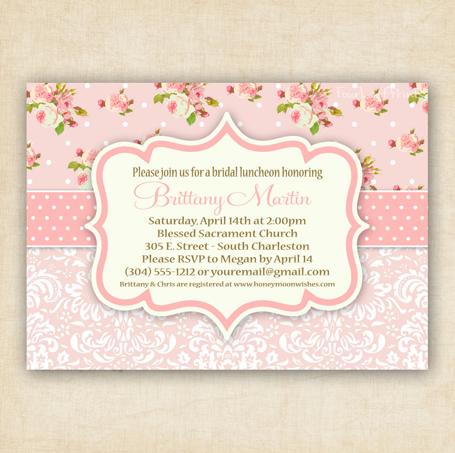 Shabby Chic Invitations for best invitation template