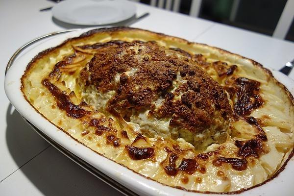 Hackbraten mit Kartoffeln in Sahne #spitzkohlrezeptehackfleisch