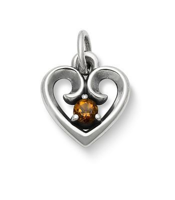Avery Remembrance Heart Pendant with Citrine | James Avery | November Birthstone