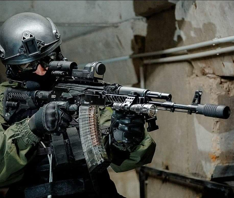 Russian Spetsnaz Photo Russiansoldier001: Russian SOBR Operator With His 60 Round Mag AK-74