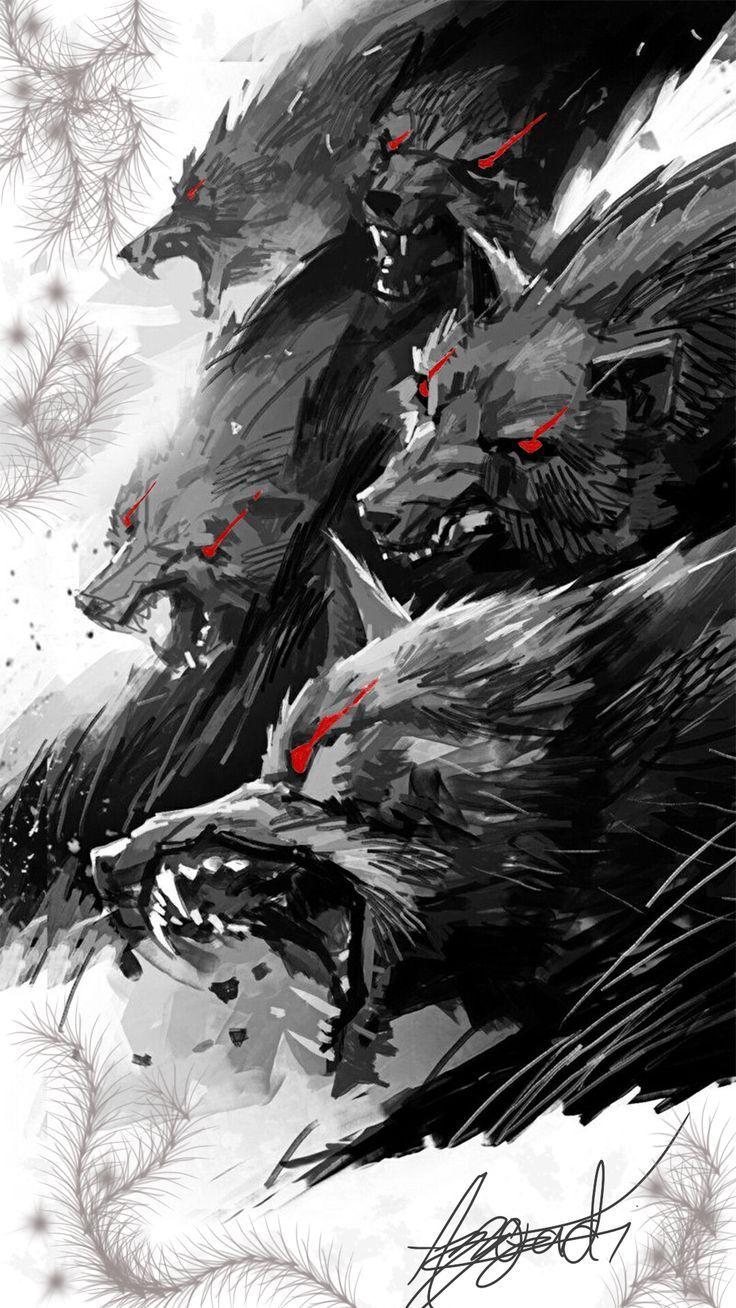 Meute De Sang A L 39 Origine Ces Amis Qui Sont Bons En 2020 Loup Dessin Dark Fantasy Art Dessin De Loups