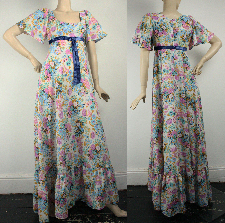 Vintage 1970s Maxi Dress By Quad 70s Maxi Dress Uk 10 12 Maxi Dress 70s Maxi Dress Maxi Dresses Uk [ 2962 x 3000 Pixel ]