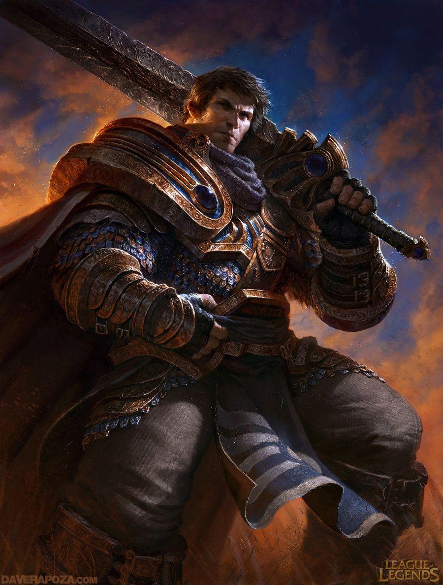 Garen League Of Legends By Davidrapozaart Lol League Of Legends League Of Legends Game League Of Legends