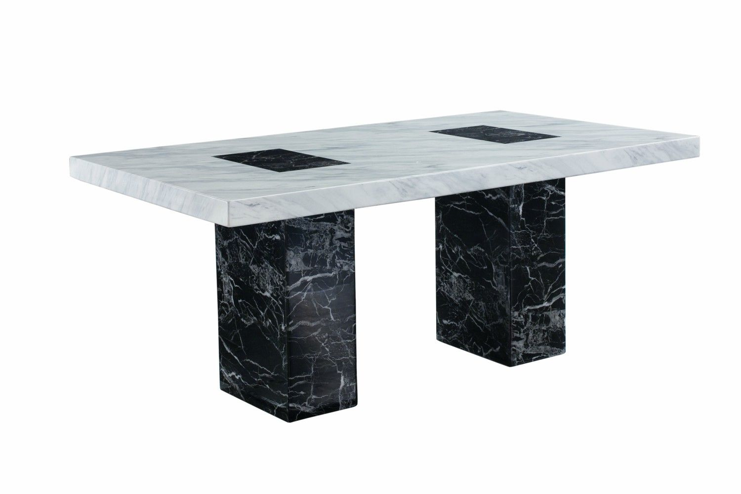 Strasbourg Dining Table Marble Black White With Images