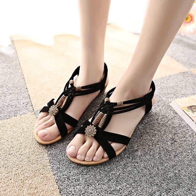 Women's Heeled Sandals - Fashion Ladies Summer Sandals Ankle Wrap Buckle Shoes