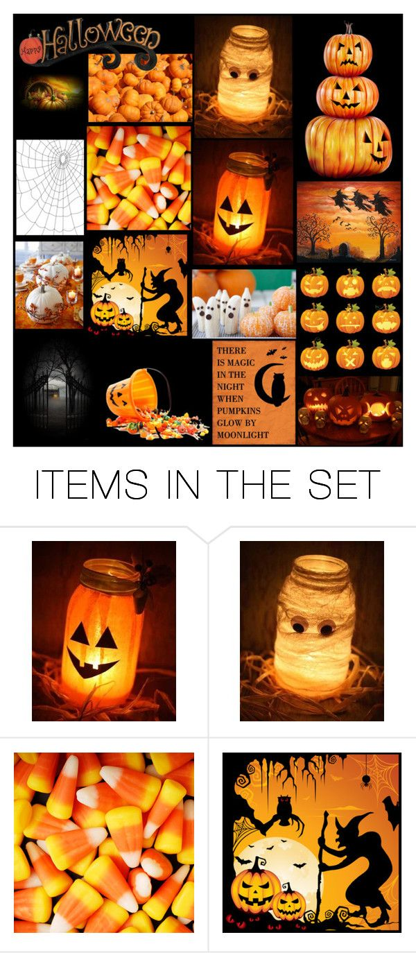 """Halloween Spirit"" by lydia129 ❤ liked on Polyvore featuring art"