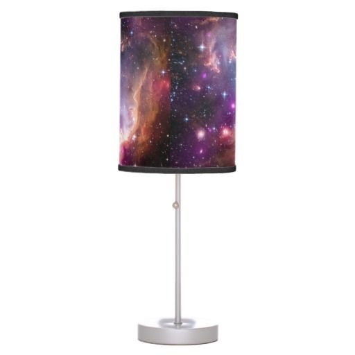 Outer Space Room Decor For Teen: Galactic Outer Space Purple Desk Lamp