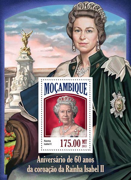 Moz 13521 B 60th Anniversary Of Queen Elizabeth Ii S Coronation Elizabeth Ii Queen Elizabeth Ii Coronation