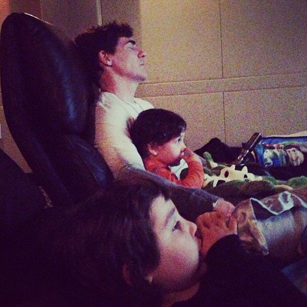 Watching a little movie with the kids. ~dm