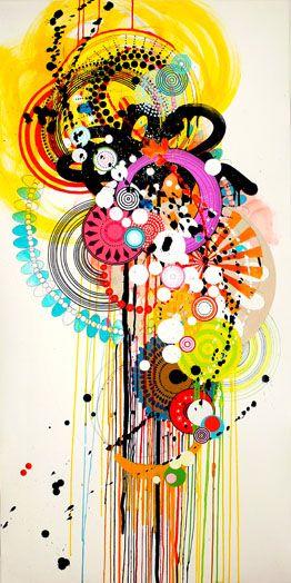 """""""ny0931 Hieronymus Bosch on Wheels"""" by Jennifer Sanchez: color love."""