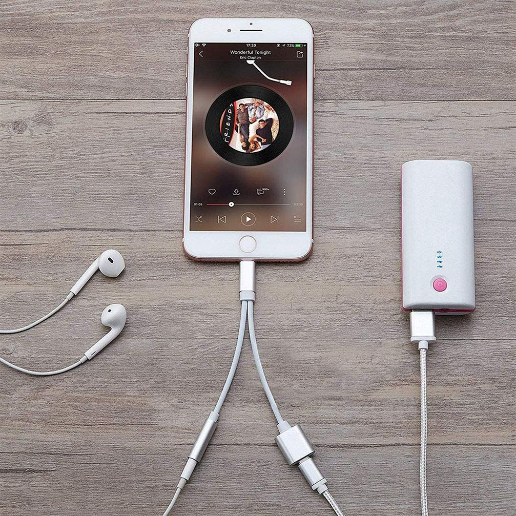 Imbcyl Usb Cable Headphone Adapter For Iphone Adaptor Charger Cable Compatible For Iphone X Xs Xr 8p 8 And 3 Headphone Accessories Headphone Earphones Adapter
