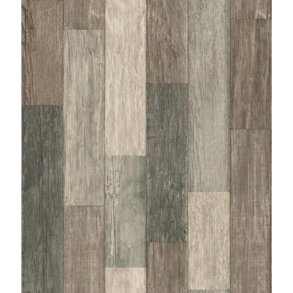Roommates Dark Weathered Plank Vinyl Peelable Wallpaper Covers 28 18 Sq Ft Rmk10841wp The Home Depot Peel And Stick Wallpaper Dark Weather Peelable Wallpaper