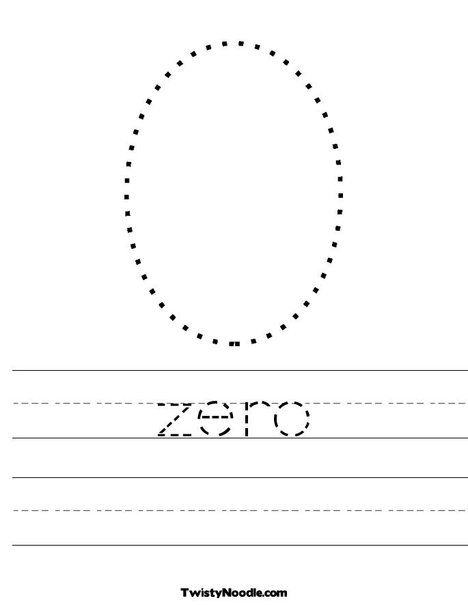 Zero Worksheet Twisty Noodle Numbers Preschool Kindergarten Worksheets Preschool Counting