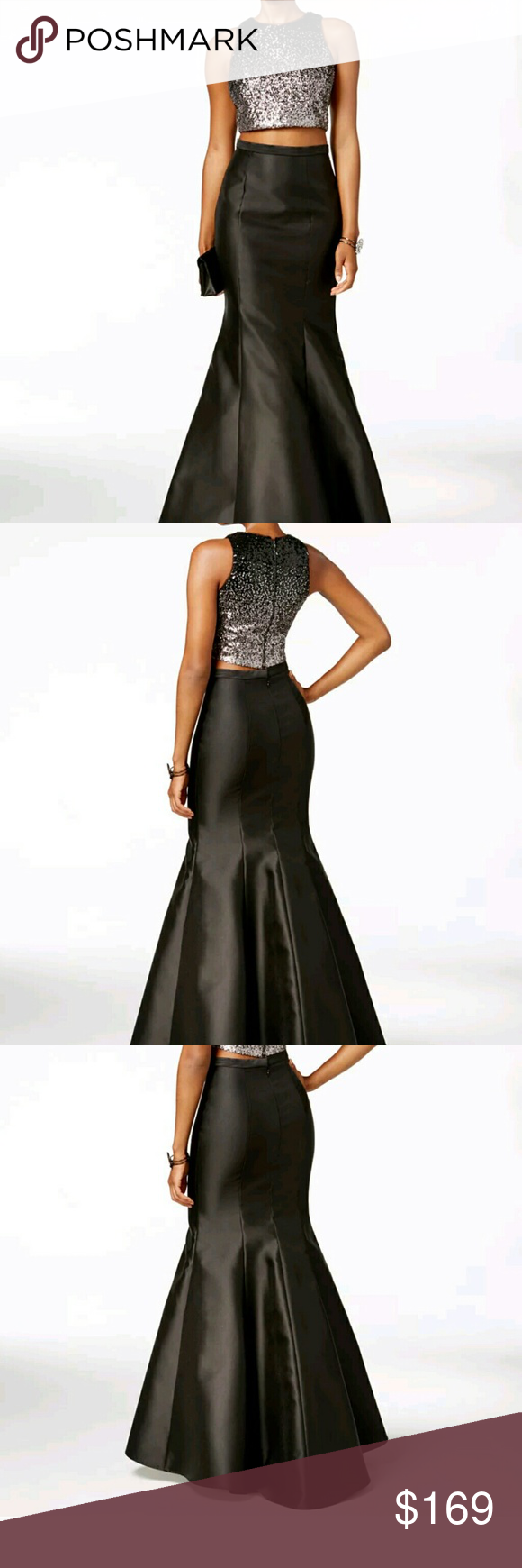 Xscape pc embellished gown nwt d gowns and dresses