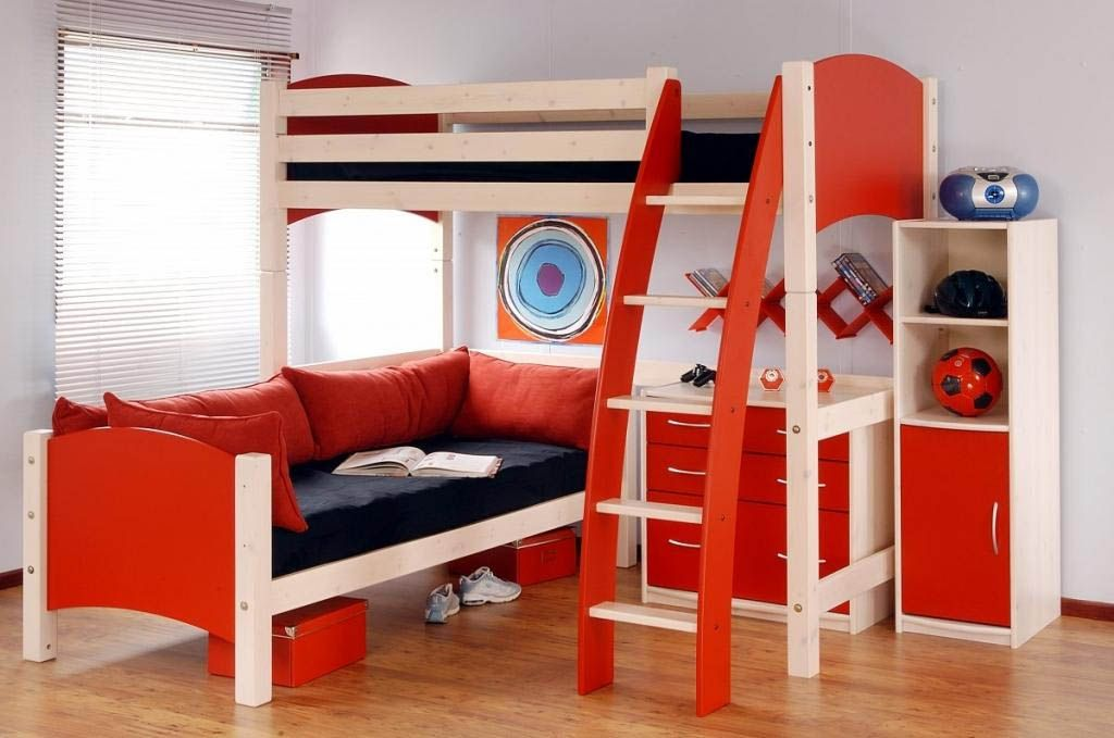 id es d coration chambre de gar on avec lits superpos s d co pinterest id e d coration. Black Bedroom Furniture Sets. Home Design Ideas