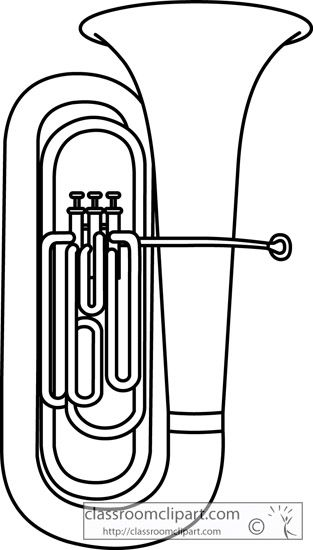 Tuba coloring pages ~ tuba outline - Google Search   Musical instruments ...