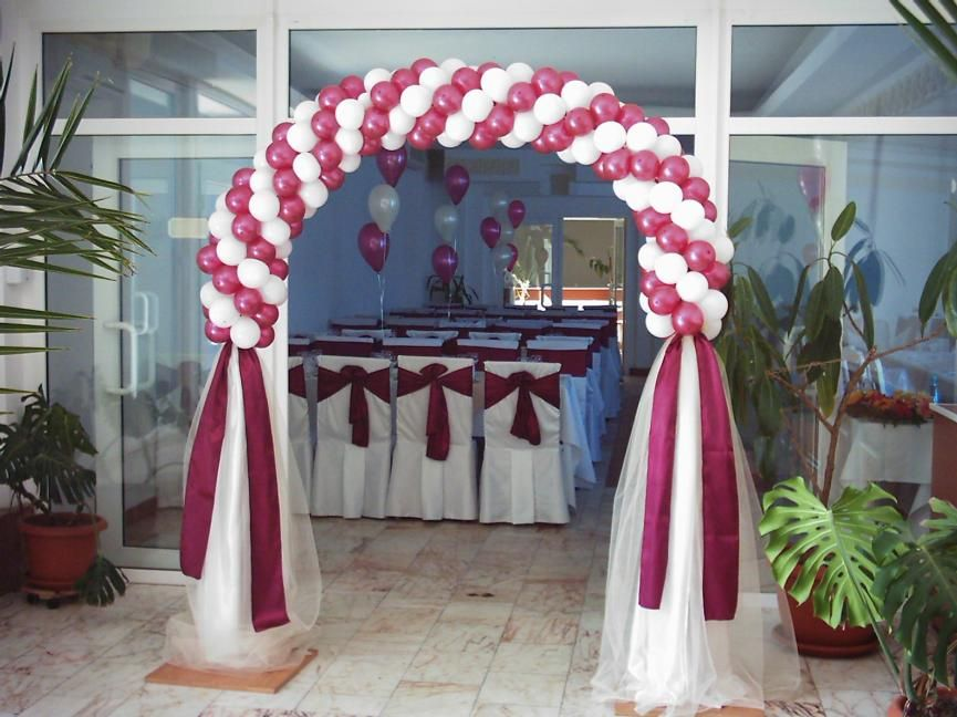 Ideas for wedding arches in plum and ivory leave a reply for Arch decoration ideas