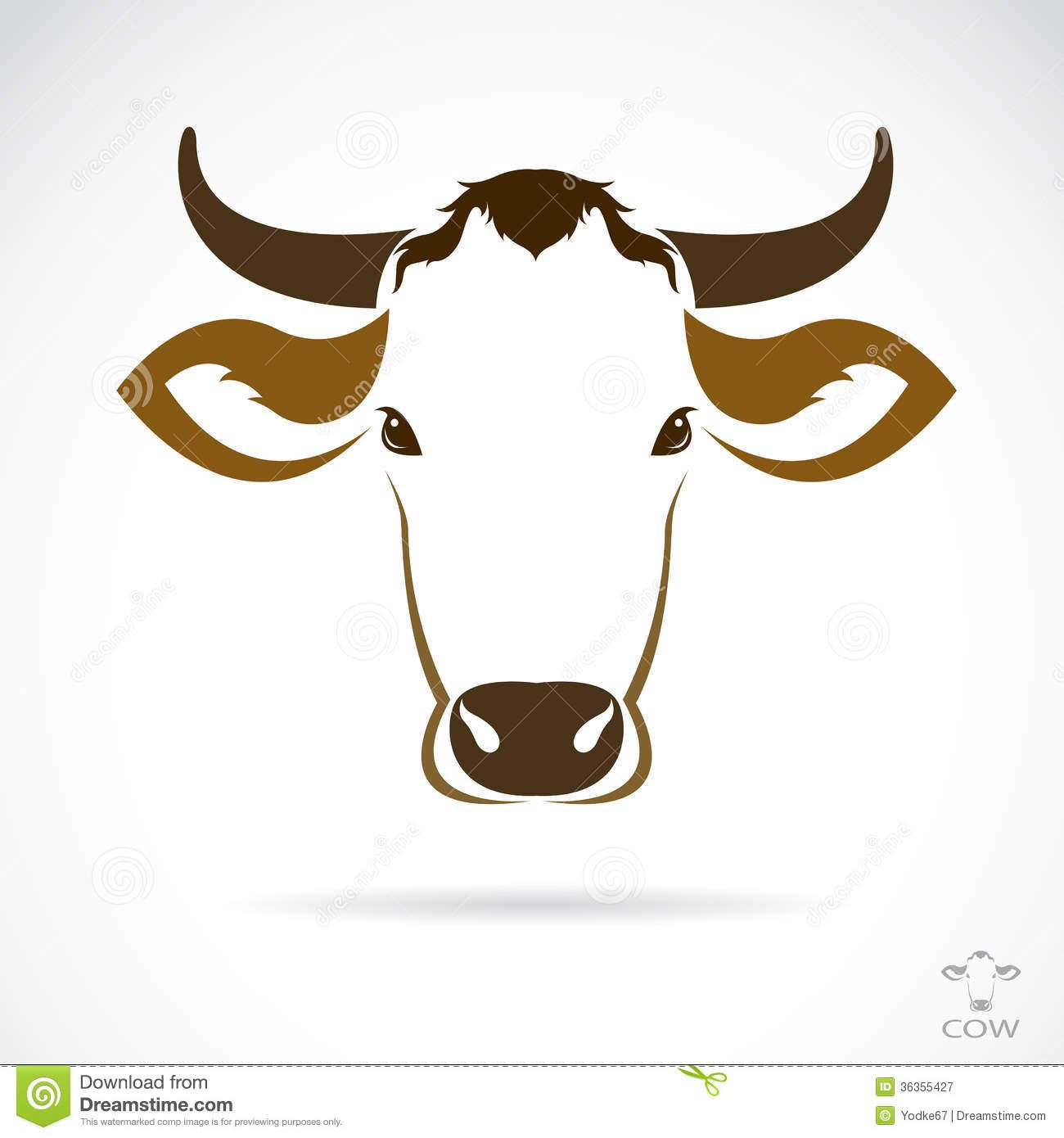 Dairy Cow Head Outline Dairy cow head outline dairy ...