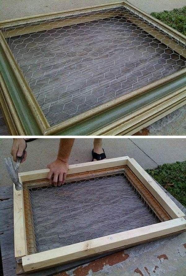 Garten selber bauen Anleitung alter Bildrahmen Zukünftige - deko garten selber machen holz